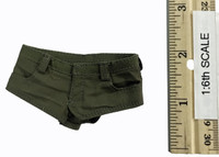 Women's Military Style Summer Outfits - Shorts (Green)