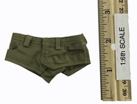 Women's Military Style Summer Outfits - Shorts (Tan)