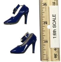 Flirty Girl: Female Qi Pao Character Set - High Heels (Blue)