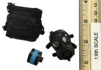 SDU Special Duties Unit Assault K9 - Gas Mask w/ Pouch (FM-12)