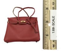 Bodycon Sleeveless Dress Sets - Handbag (Red)