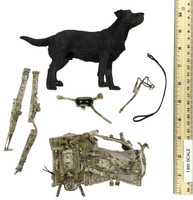 US Navy Seal Team Six K9 Halo Jumper - Dog w/ Accessories
