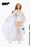Lace Caped Lingerie Sets - Boxed Set (White)