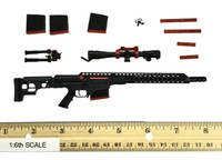 ZERT Z-Squadron Sniper Team: Black Jack - Sniper Rifle (MRAD Short Barrel) w/ Accessories