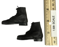 The Masked Mercenaries - Black Lace Up Boots (For Feet)