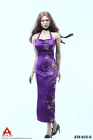 Female Sexy Leopard Dress Set - Boxed Set (Purple)