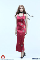 Female Sexy Leopard Dress Set - Boxed Set (Red)