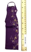 Female Sexy Leopard Dress Set - Qipao (Purple)