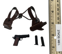 Cosplay American Female Action Hero - Shoulder Holster w/ Pistol & Ammo
