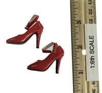 Flirty Girl: Female Qi Pao Character Set - High Heels (Red)