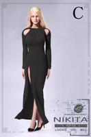 Bare Shouldered Evening Dress - Boxed Set (Black)