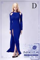 Bare Shouldered Evening Dress - Boxed Set (Blue)