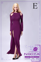 Bare Shouldered Evening Dress - Boxed Set (Purple)