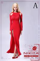 Bare Shouldered Evening Dress - Boxed Set (Red)