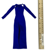 Bare Shouldered Evening Dress - Evening Dress (Blue)