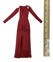 Bare Shouldered Evening Dress - Evening Dress (Red)