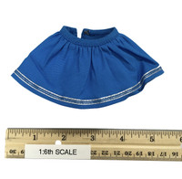 Oktober Girl Dress Set - Dress (Blue) w/ White Underskirt