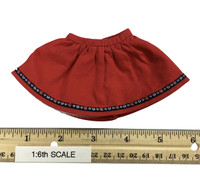 Oktober Girl Dress Set - Dress (Red) w/ White Underskirt
