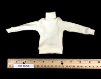 U-Boat Captain - Turtle Neck Ribbed Sweater (White)