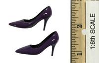 Bunny Girl Waitress Suit Sets - High Heels (Purple)