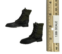 Fighting Girls in Camo - Boots (Green Camo) (No Ball Joints)
