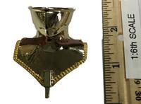 Gothic Armor (Gold) - Neck Armor (Bevor) (Metal)
