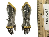 Gothic Armor (Silver) - Gauntlets (Relaxed) (Metal)