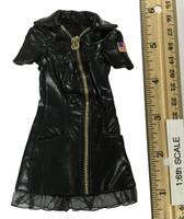 Sexy War Women Suit (Leather Version) - Dress (Black)