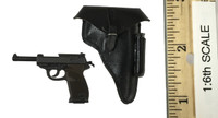 WWII German SS MG42 Machine Gunner - Pistol (P38) w/ Holster