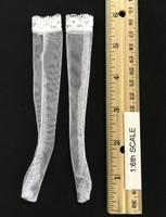 Sexy Nurse Outfits - Stockings (White)