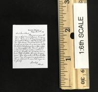 """The Bounty Hunter"" Major Marquis Warren - Letter from President Lincoln"