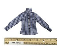 Female Plaid Shirt & Jeans Set - Shirt