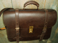 Handmade Bison Leather Briefcase