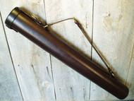 Handmade Leather Tubular Blueprint/Drawing/Plan/Document  Case