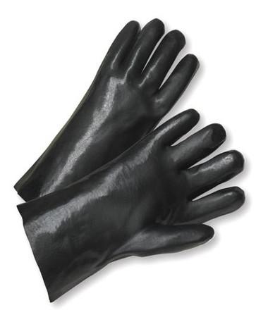 "12"" / 14"" Black Fully Coated PVC Work Gloves  ## 265 ##"