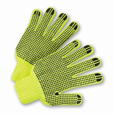 Hi-Vis Reverse PVC Palm Dot String Knit Gloves  ## RD300 ##