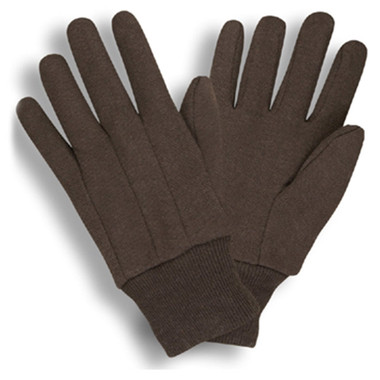 Standard Weight Brown Jersey Gloves  ## 345 ##