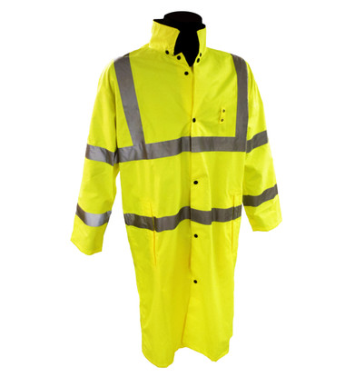 "Class 3 Hi-Vis 48"" Long Raincoats  ## 7148G ##"