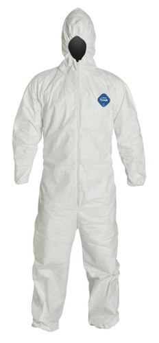 Tyvek® White Coveralls with Hood ##174 ##