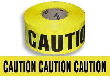 "Hi-Vis Yellow ""Caution"" Barricade Tape  ## CT100 ##"