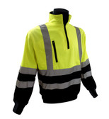 Class 3 Hi-Vis 1/4 Zip Pull Over Sweatshirts  ##028032 ##