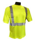 Hi-Vis Knit Class 2 Green T-Shirt Front ## G820 ##