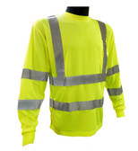 Hi-Vis Breathable Knit Class 3 Lime Green Long Sleeve T-Shirt ##G935 ##