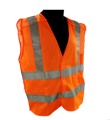Breakaway Mesh Class 2 Safety Vests - Safety Orange ##VEST3O ##