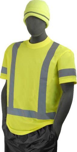 Hi-Vis Knit Class 3 Green T-Shirt - Non Pocket ##GNP820 ##