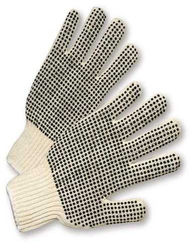 PVC Palm Double Dot String Knit Gloves ##RD100 ##
