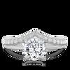 Womens Wedding Band V Shaped Ethical Diamond