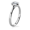 Laura Preshong Engagement Ring - Betsy Cushion Cut Bezel Engagement Ring