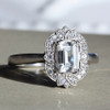 Laura Preshong Engagement Ring - Ethical Diamond Vintage Halo Ring