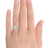 Laura Preshong Ethical Engagement Ring - Molly Ethical Diamond Brilliant Cut Diamond Halo Ring